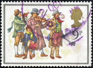stamp shows musicians, devoted Christmas