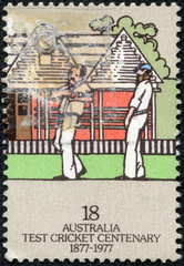 Stamp printed in AUSTRALIA shows the Fielders