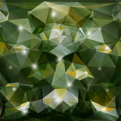 Vector abstract geometric green background