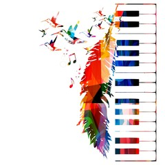 Colorful music background