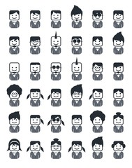 avatar portrait picture icon set