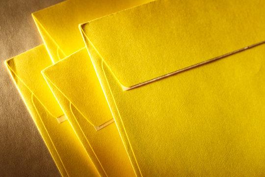Blank yellow envelopes