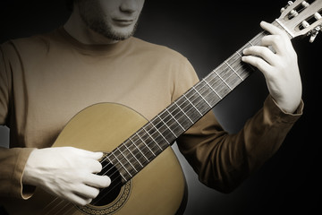 Acoustic guitar guitarist player