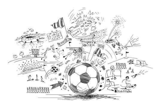 soccer doodle