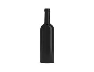 Weinflasche schwarz Kappe offen