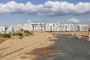 neue Strasse Neubaugebiet Stadt