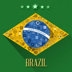 brazil soccer flags symbol