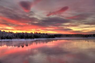Paysage du nord de la Laponie finlandaise en HDR