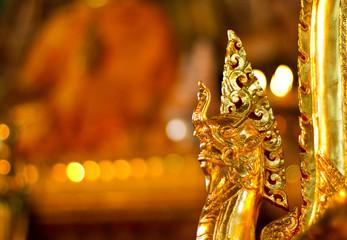 Naga statue at the stupa