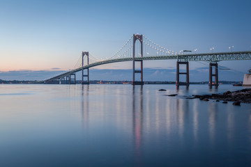 Newport Bridge at Twilight