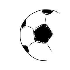 hand draw soccer ball on white
