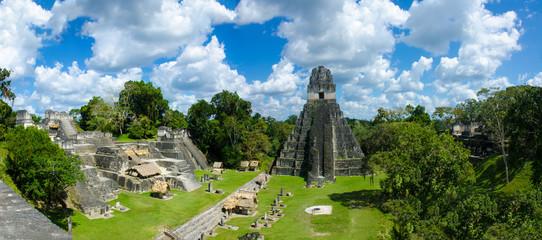Wall Mural - Guatemala Tikal  - Panorama View of Ruins