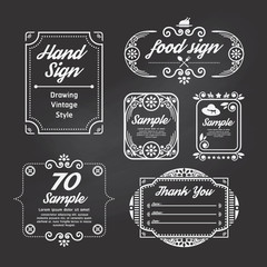 Label Vintage Design Labels template
