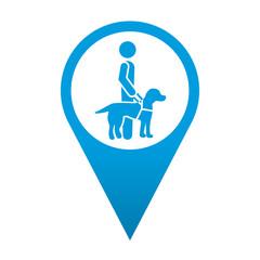 Icono localizacion simbolo perro guia