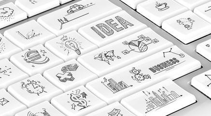 Business doodles keyboard