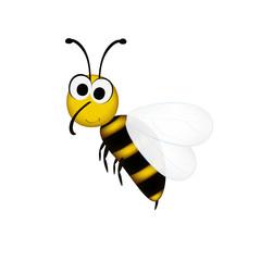 Сute little bee in cartoon style