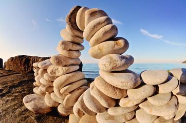 Curve of stones