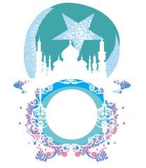 abstract religious frame - Ramadan Kareem Vector Design