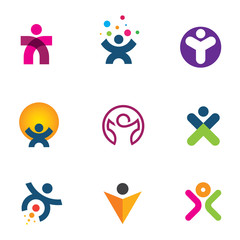 Make impact creating innovation of human potencial logo icon