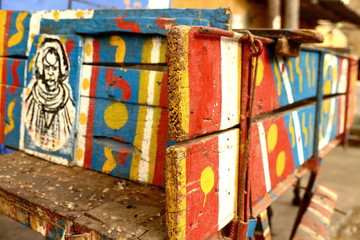 Colored cart-Saint Louis du Senegal