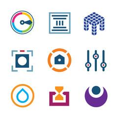 High technology settings digital science developer logo icon