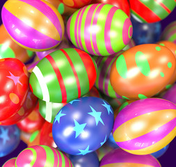 easter egg colorful background