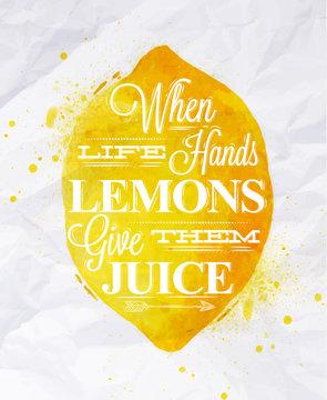 Poster fruit lemon