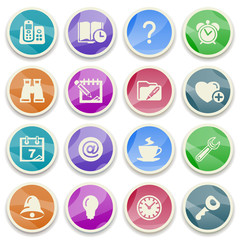 Organizer color icons.