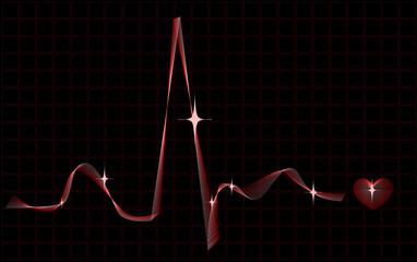 Stylized heart rhythm