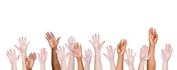 Group Of Multi-Ethnic People's Arms Outstretched
