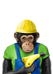 smartmonkey worker drill isolated