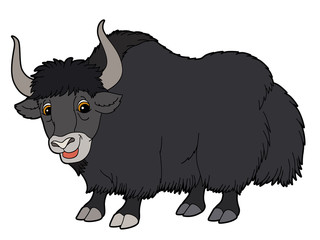 Cartoon animal - yak - illustration for the children