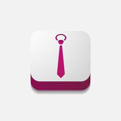 square button: tie