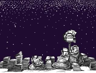 writings four Santa Claus