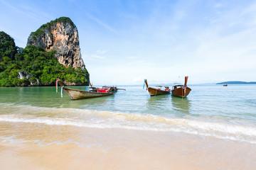 bateaux sur la plage, Thaïlande