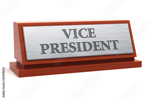 Vice President Job Title On Nameplate Stock Photo And RoyaltyFree