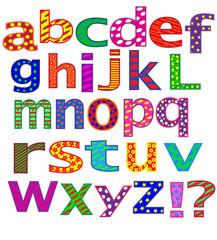 Английский алфавит на белом фоне