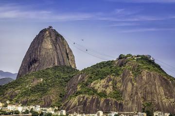Rio de Janeiro aerial vintage view, Brazil