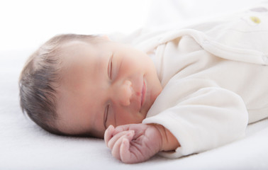 Close-up of a baby boy sleeping