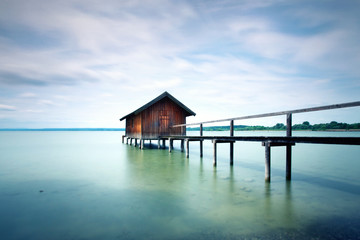 rustikales Bootshaus am See