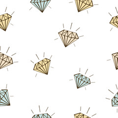 colored diamonds seamless vector background