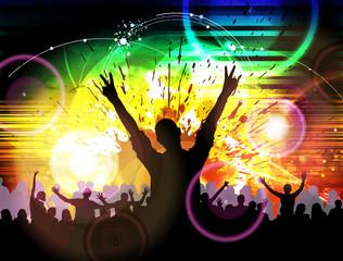 Clubbing. Dancing people