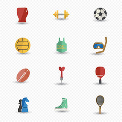 Sport icons,Colorful version,vector