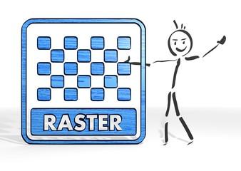 stick man presents raster image symbol