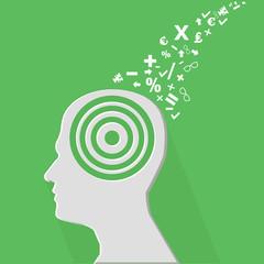 Brain education concept,vector