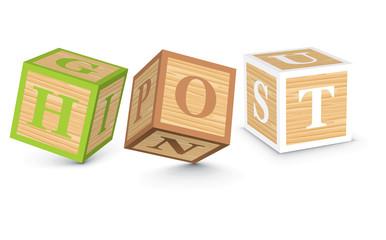 Word HOT written with alphabet blocks