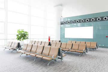 Poster Aeroport modern airport terminal waiting room