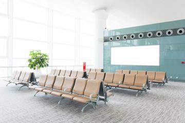 Photo sur Toile Aeroport modern airport terminal waiting room