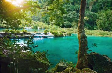 Cascades National Park in Guatemala Semuc Champey