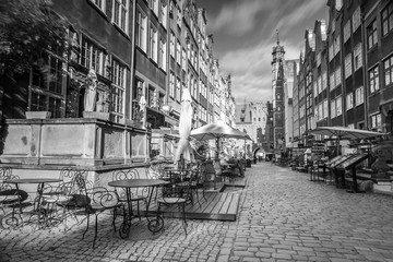 Architecture of Mariacka street in Gdansk, Poland
